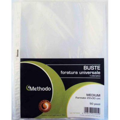 BUSTE FORATE METHODO MEDIUM 22 CM X 30 CM LUCIDE 50 PZ