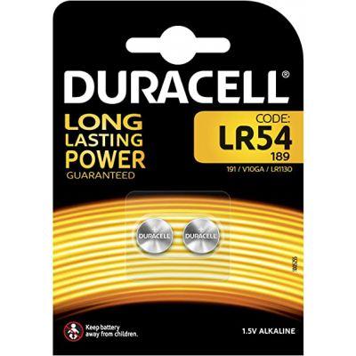 BLISTER 2 PILE ALCALINE DURACELL 1.5V LR54