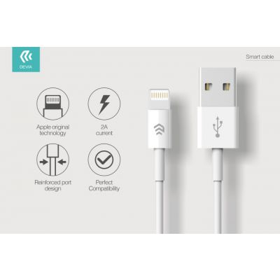 CAVO DATI SMART DEVIA DA USB A LIGHTING IPHONE IPAD 1 MT