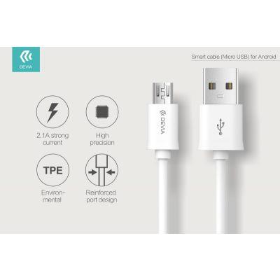 CAVO DATI SMART DEVIA DA USB A MICRO USB 1 MT