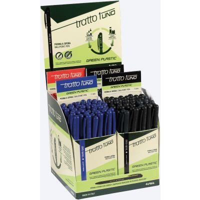 ESPOSITORE PENNE A SFERA A SCATTO TRATTO 1UNO GREEN PLASTIC PUNTA 1.0 MM COLORI ASS. (200 PZ)