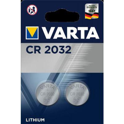 BLISTER 2 MICROPILE A PASTIGLIA CR2032 LITIO 3V VARTA