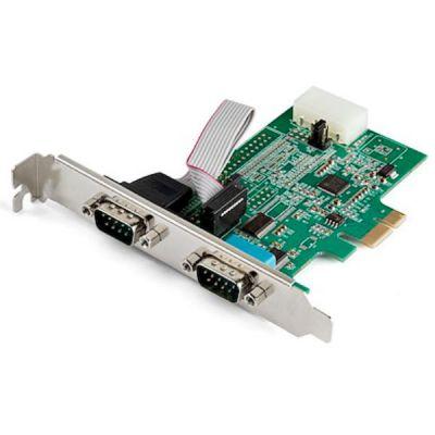 Scheda adattatore seriale RS232 PCI Express a 2 porte - 16950 UART - Cache FIFO a 256 byte - Sostituisce PEX2S952 (PEX2S953)