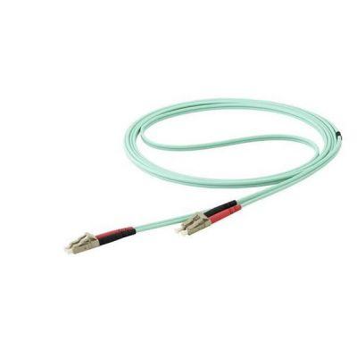 Cavo Fibra Ottica patch Multimodale LC a LC Duplex 50/125 OM4 - 7m  - 40/100Gb -Turchese - LSZH (450FBLCLC7) - 10Gb