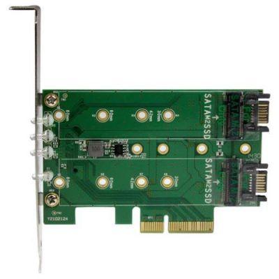 Adattatore SSD M.2 NGFF a 3 porte - 1x M.2 PCIe ( NVMe)   2x M.2 SATA III M.2 - PCIe 3.0