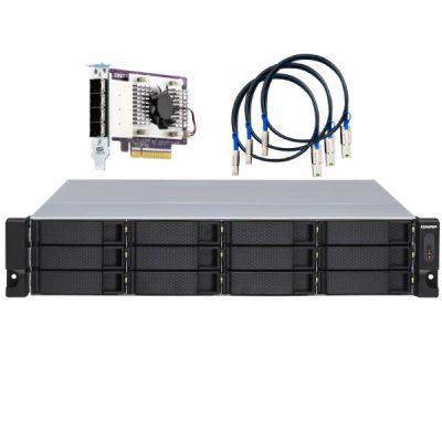 12-bay 2U rackmount SATA JBOD expansion unit  redundant PSU