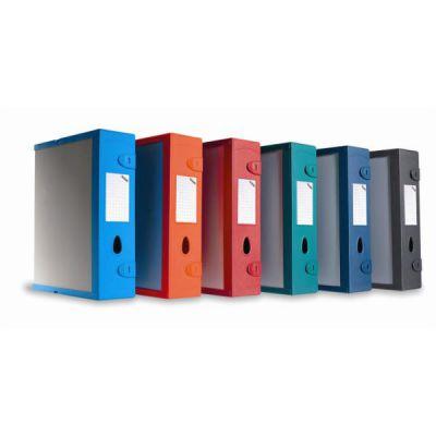 Scatola Archivio Combi-Box Dorso 9 mm rosso in robusto Ekostar 2mm componibile con clips utilizzabile oriz/vert  formato utile 29 5x35 8 cm