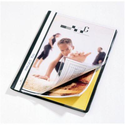 Cartellina ad aghi Duraplus  PVC  formato A4 con copertina  a busta trasparente per personalizzazioni  colore nero (conf.25)