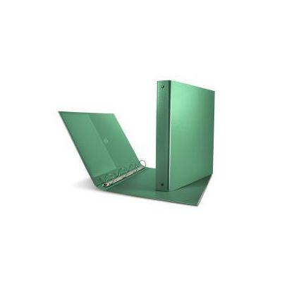 Raccoglitore Nettuno a 4 anelli - verde - A4- ANELLI 30mm