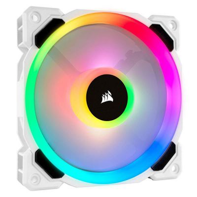 LL120 RGB WHITE  120MM DUAL LIGHT LOOP RGB LED PWM FAN  SINGLE PACK