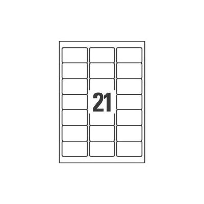ETICHETTE PER INDIRIZZI 63 5X38 1 - ETICHETTE X FOGLIO N 21  (25FF.)   LASER  (CONF.DA 525 ETICHETTE)