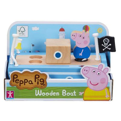 PEPPA PIG BARCA LEGNO + Pers