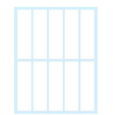 Etichette bianche in busta - 75x21 - 10 ff
