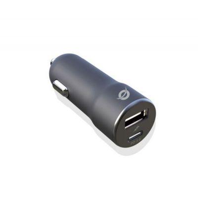 2-Port 36W USB PD Car Charger -- USB-C PD 18W output. USB-A output: QC3.0 18W
