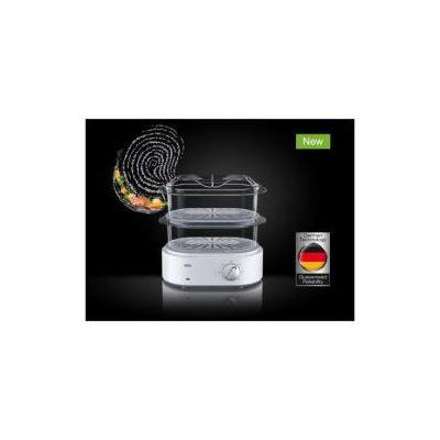 Potenza 850W  2 cestelli universali trasparenti da 3 1LT  Timer  accelleratore di vapore  cestello per il riso  porta uovo