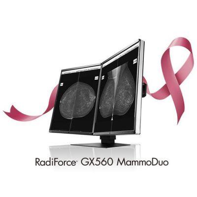 COPPIA DI MODITOR GX560 RADIFORCE MEDICALE CON UNICO PIEDISTALLO      GRAYSCALE MONITOR PER REFERTAZIONE MAMMO TOMO GARANZIA 5 ANNI