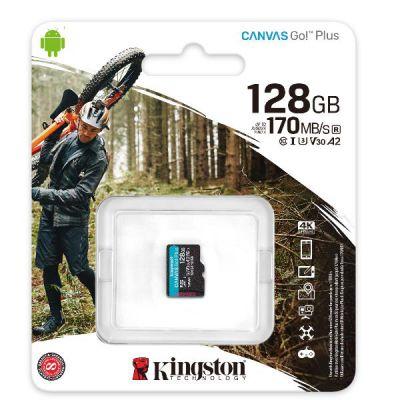 128GB MICROSDXC CANVAS GO PLUS 170R A2 U3 V30 SINGLE PACK W/O ADP