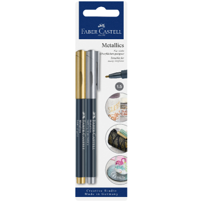 Creative studio blister 2 marker metallic oro/argento