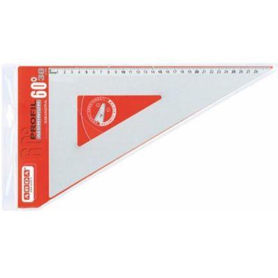 Squadra alluminio Profil 60° cm. 35