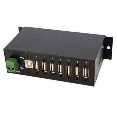 Hub USB industriale a 7 porte  predisposto per il montaggio