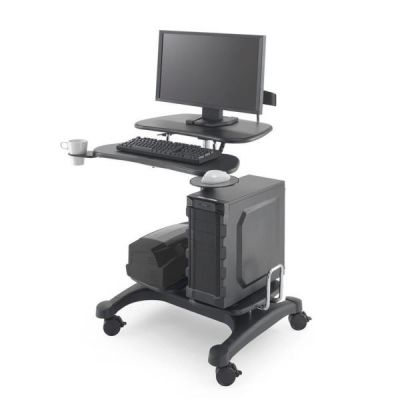 Postazione Professionale di lavoro mobile su ruote per PC