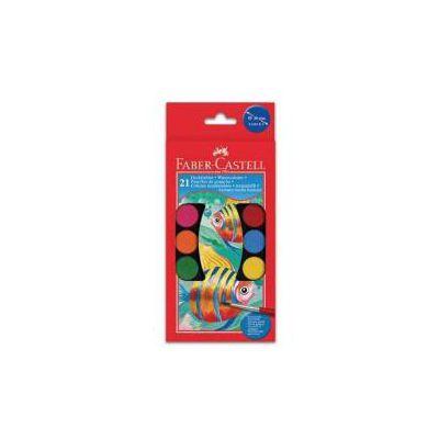 Acquerelli con 21 godets di colori assortiti pennello diametro pastiglie 30mm