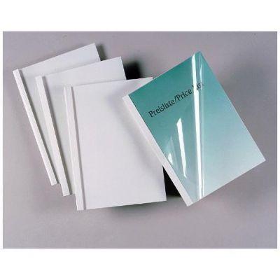 Cartelline termiche Silk white dorso 8 mm  formato A4   trasparente/bianco  (conf.100)