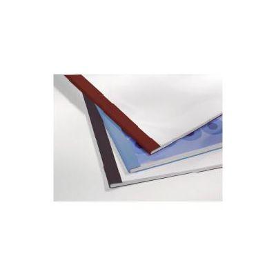 Cartelline termiche  Leathergrain goffrate  dorso 4mm  formato A4  trasparente/blu (conf.100)