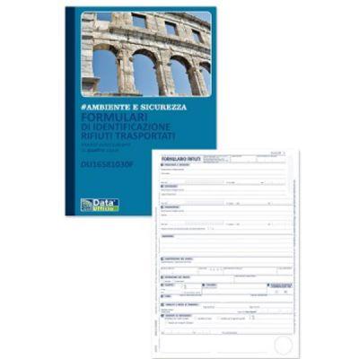 CF5 FORMULARIO DI IDENTIFICAZIONE RIFIUTI TRASPORTATI  BLOCCO DI      25/25/25/25 COPIE AUTORICALCANTI