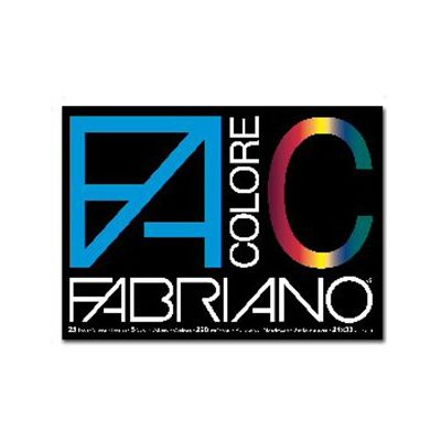 BLOCCO FACOLORE (240X330MM) 25FG 220GR 5 COLORI FABRIANO 5 PZ