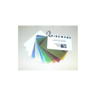 500 ZEBRA COLOUR PVC CARD - SILVER METALLIC  30MIL