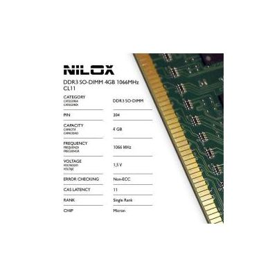 DDR3 SO-DIMM 4GB 1066MHZ CAS LATENCY 7