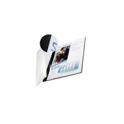SC10 pzimpressBIND copertina flessibile fronte trasp. - f.to A4 dorso 3.5 mm (10-35 fogli)Nero