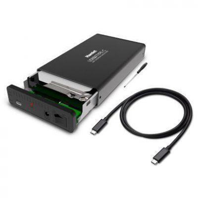 """Box per HDD SATA 3,5"""" in alluminio USB C 3.1 - 10 Gbps"""