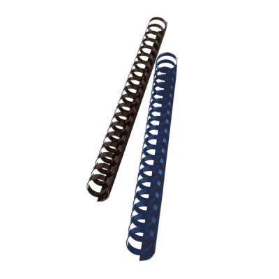 Dorsi plastici 21 anelli dorso 16 mm  capacità rilegatura 145 fogli nero (conf.100)