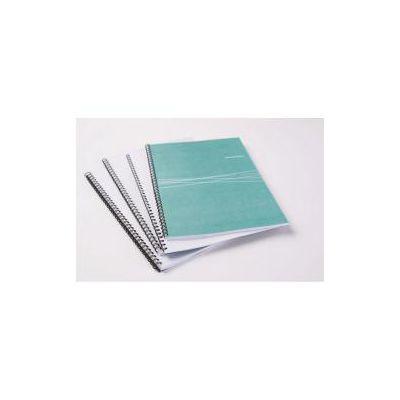 Dorsi metallici diam. 14mm colore bianco  conf.da 100  n. fogli 101.130