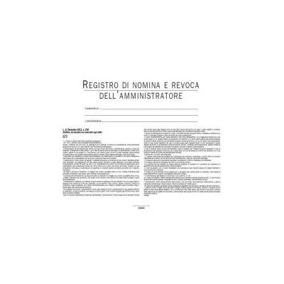 REGISTRO DI NOMINA E  REVOCA AMMINISTRATORE DI  CONDOMINIO (CONF 5 PZ)