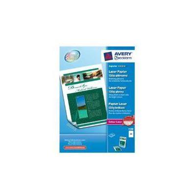 Carta bianca fotografica patinata Glossy - A4 - 120g - stampanti Laser/Laser a colori - 210x297 - 200 ff
