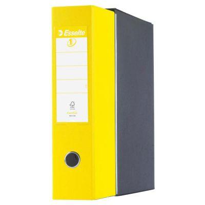 Registratori Eurofile Esselte - F.to commerciale - dorso 8 cm - f.to utile 23x30 cm - Giallo Vivida