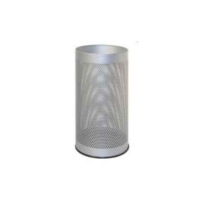 Portaombrelli in metallo forato tondo H48  Grigio  Diam. 24 cm  altezza 48 cm