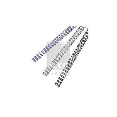 Dorsi metallici 34 anelli  dorso 12 7 mm - Capacità rilegatura 100 fogli nero (conf.100)