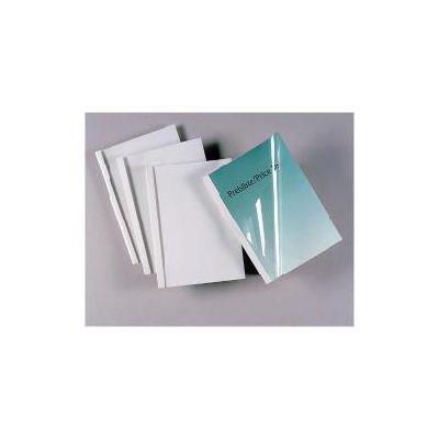 Cartelline termiche Silk white dorso 10 mm  formato A4   trasparente/bianco  (conf.100)