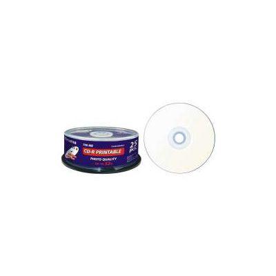 CAMPANA DA 25 CD-R 80 MINUTI 700MB 52X PRINTABLE PER STAMPANTE INKJET (CODICE 47312 )