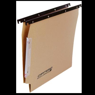 Cartelle sospese per armadio Linea Cartesio Eco  colore avana  interasse 33 cm  Fdo V avana (conf.25)