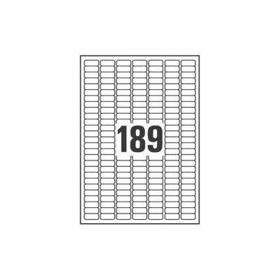 ETICHETTE IN POLIESTERE ARGENTO - STAMPANTI LASER - 25 4X10 - 20 FF   3780 ETICHETTE