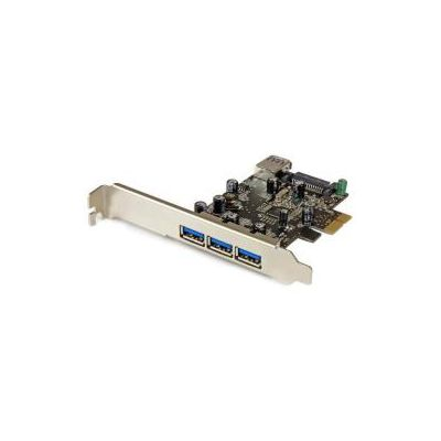 Scheda PCI Express USB3.0 SuperSpeed a 4 porte (3 est 1 int)