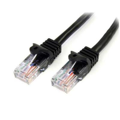 Cavo di rete CAT 5e - Cavo Patch Ethernet RJ45 UTP Nero da 3m  antigroviglio - Cavo RJ45 M/M Cat 5e