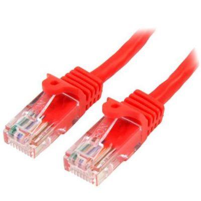 Cavo di Rete da 50cm Rosso Cat5e Ethernet RJ45 Antigroviglio - Cavo Patch Snagless