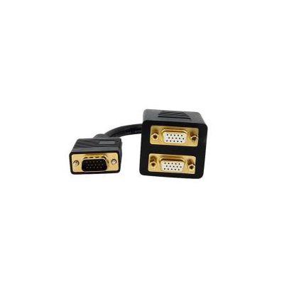 Cavo Sdoppiatore VGA a 2 uscite VGA - Cavo Y splitter VGA a doppia uscita VGA - M/F da 30 cm