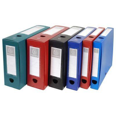 Cartelle portaprogetti in polipropilene opaco Dorso 80 mm Chiusura con bottone pressione e portaetichetta A4
